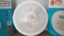 Lampe mit Bewegungsmelder PTS-weiß Wandlampe Treppenhaus  Deckenlampe