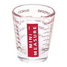 MINI MEASURE GLASS  1001 HOUSEHOLD USES 1-1.5 oz, 2Tbl, 30ml, 6 tsp