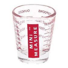 MINI MEASURE GLASS  1001 HOUSEHOLD USES 1-1.5 oz, 2Tbl, 30ml, 6 tsp