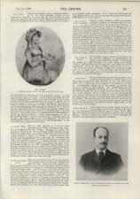 1900 IL CONTE lamsdorff Ministro RUSSO TENORE ITALIANO sua signoria De Lucia
