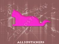 Pegatina Gato 3D Relieve - Color Rosa