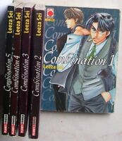serie completa COMBINATION n° 1/5 (Planet Manga, 2002)