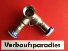 "Geberit Mapress Edelstahl Pressfitting  Deckenwinkel doppelt 15 mm x 1/2"" Neu"