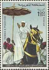 Timbre Chevaux Maroc 596 ** lot 15934