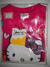 Little Toddler Girl Pink Short Sleeved Shirt (Hello Miss Kitty)