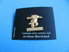 FUJIFILM pin badge. VGC. Gold Coloured Metal. Arthus Bertrand. Football.