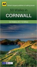 AA ___ 50 WALKS IN CORNWALL ___ 2017 REPRINT ___ BRAND NEW ___ FREEPOST UK