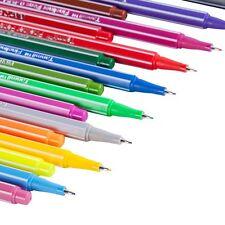 Fineliner Color Pen Set, Tanmit 0.4 mm Felt tip Colored Pens, No Duplicates, 18