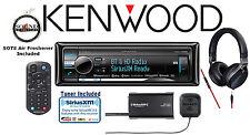 Kenwood eXcelon KDC-X998 Receiver w/ KH-KR900 Black Headphones & SiriusXM Tuner