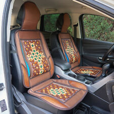 Bamboo Bead Beaded Massage Wood Wooden Car Chair Front Seat Cover Cushion Brown