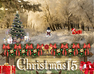 CH15 Christmas Backgrounds Children Baby Digital Holiday Props Frame Backdrops