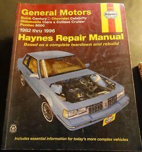 1982-1996 HAYNES GENERAL MOTORS CHEVROLET, BUICK SERVICE MANUAL 38005 (200)