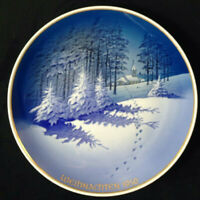 """ROSENTHAL 1950 Christmas Plate """"Christmas in the Forest"""" Signed"""