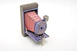 Kodak Rainbow Hawkeye Vest Pocket Orchid Pink Bellows+Lavender purple camera+WoW