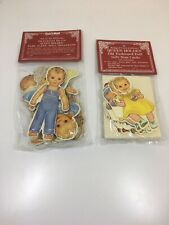 The Shackman Collection Baby Paper Doll Christmas Ornaments / Queen Holden Old F