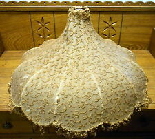 Antique Lace Material Lamp Shade - Some Tears
