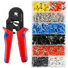 Terminal Crimping Pliers Wire Stripper Crimper+1200 Connector Wire Terminals