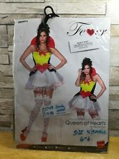 SMIFFYS FEVER SEXY QUEEN OF HEARTS FANCY DRESS COSTUME SIZE XS 4 - 6 BNIP