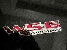 GM LICENSED, 93-02 WS6 Emblem Badge, UV Rate Acrylic PICK COLOR, NICE!!!