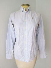 Ralph Lauren blue white stripe oxford cotton BD blouse Polo pony Classic Fit 2