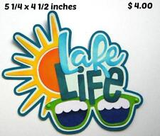 Lake Life Summer everyday title scrapbook premade paper piecing by Rhonda