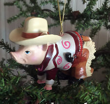 Cowboy Pig Country Western Ornament for Christmas, Crafts or Collectable