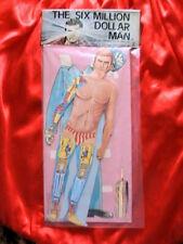Très rare vintage Six Million Dollar Man (Bionic Man) Paper Doll Boîte d'origine jamais ouverte 1978