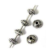 25 Intercalaires spacer Bicône arg 5x5x3mm Perles apprêts création bijoux _ A299