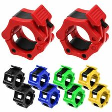 "2pc Olympic 1"" 2"" Spinlock Collars Barbell Dumbell Clips Weight Bar Lock 25/50mm"
