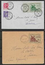 St.Nazaire covers 1945 MI 1-2 on covers  Cat Value $1250