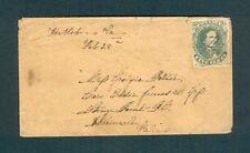 "SCARCE #1 Confederate ""Hallsboro Va. Feb 28th"" to Elder James Goss, Stony Point"