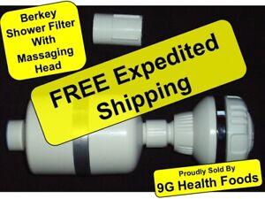 Berkey Shower Filter WITH Massaging Shower Head - NEW (SFBK / KDF / KDFSF)