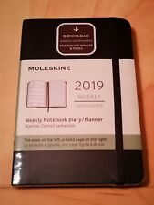 Moleskine 2019 Diary Week to View small black softback