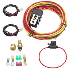 Dual Electric Cooling Fan Control Harness Wiring Kit 40 Amp Relay 185/165 Degree