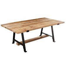 WOHNLING Couchtisch Mango 115 x 60 cm Wohnzimmertisch Braun Tisch Holz Sofatisch