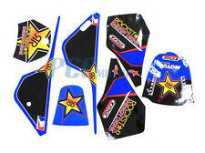 ROCKSTAR GRAPHICS DECAL STICKERS KIT YAMAHA PW80 PW COYOTE PY80 9 DE51