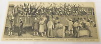 1884 magazine engraving ~ SUTHERLAND & ARGYLLSHIRE REGIMENT Durban, Natal