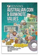 RENNIKS 2020 AUSTRALIAN COIN & BANKNOTE Values 30th Edition SOFT COVER Book