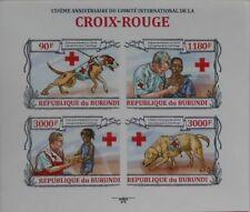 Red Cross Rescue Dogs Burundi m/s Sc. 1341 MNH #BUR13201a IMPERF