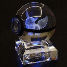 3D Crystal Pokemon ball EEvee Elf Night Desk table cabinet RGB LED light lamp