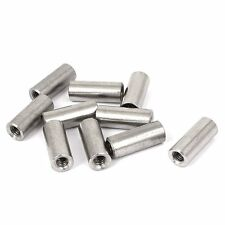 Uxcell a16050300ux0576 Round Connector Nuts M6x1mm Stainless steel Threaded Rod