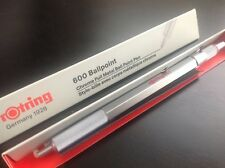 ROTRING 600 SILVER HEXAGONAL BALLPOINT PEN NEW  IN BOX