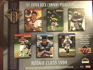 1994 Upper Deck Rookies Class NFL Numbered Promo Sheet - Marshall Faulk