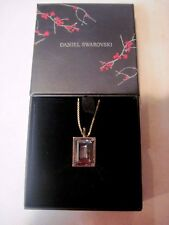 DANIEL SWAROVSKI Signed Gold Tone & Large Crystal 32 inch Necklace NIB    610