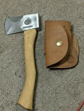 Knives Of Alaska Mini Hatchet With Leather Sheath New Condition never used