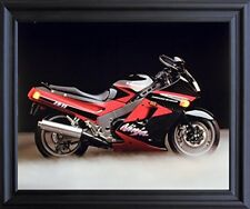 Kawasaki Ninja Zx11 Ron Kimball Motorcycle Black Framed Picture Art Print 19x23
