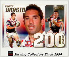 2011 Select NRL Strike 200 Game Case Card CC25: Braith Anasta ( Roosters)