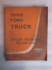 1966 Ford Truck Shop Manual Volume 4 Maintenance Schedule, Operations lubricatio