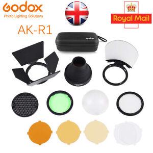 UK Godox AK-R1 Adapter Pocket Flash Light Kit for Godox H200R Round Flash Head