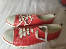 Deep cerise patent leather trainers from Boden size 42 VGC